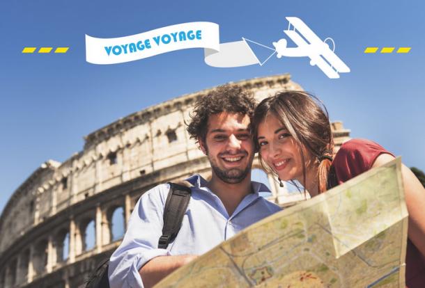 Carte postale voyage voyage