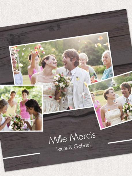apr s le mariage la carte de remerciement s 39 impose. Black Bedroom Furniture Sets. Home Design Ideas