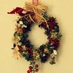 Une couronne de Noël fait maison