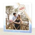 Nouvelle collection de cartes de remerciements mariage