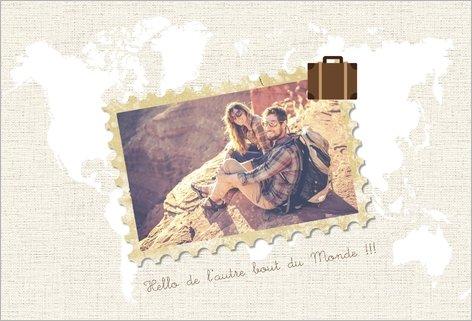 personnaliser une carte postale popcarte