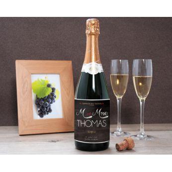 cadeau de mariage champagne personnalisé