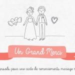 Nos conseils pour une carte de remerciements mariage réussie [Infographie]