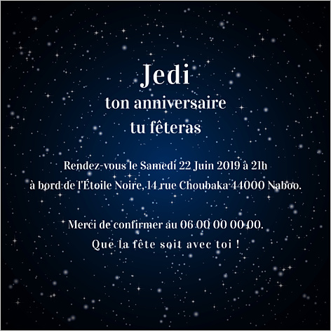 15 bonnes id es pour une f te d anniversaire star wars popcarte. Black Bedroom Furniture Sets. Home Design Ideas