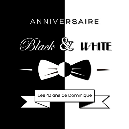 invitation-anniversaire-black-and-white