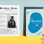 Popcarte présente : des invitations anniversaire tendances et Pop !