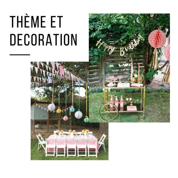 thème décoration anniversaire